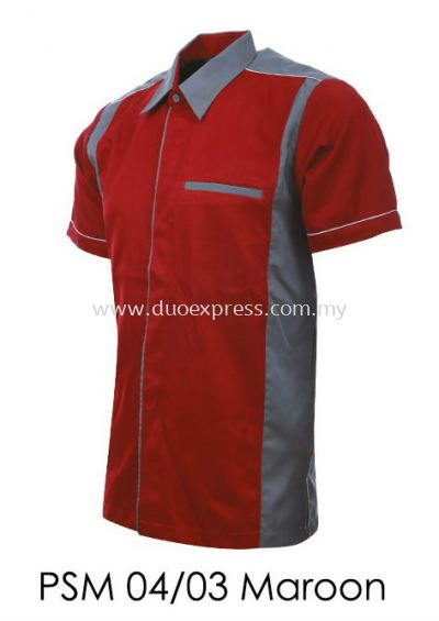 PSM 04 03 Maroon Unisex Corporate Shirt