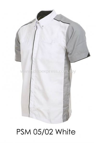 PSM 05 02 White Unisex Corporate Shirt