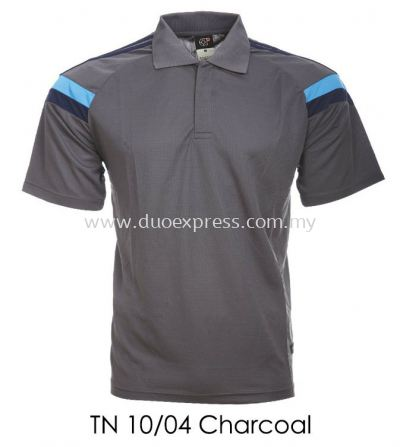 TN 10 04 Charcoal Collar T Shirt