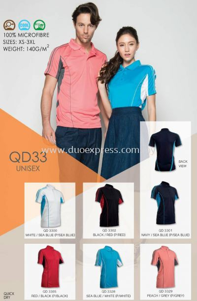 Polo T Shirt MicroFibre- Ready Made QD-33