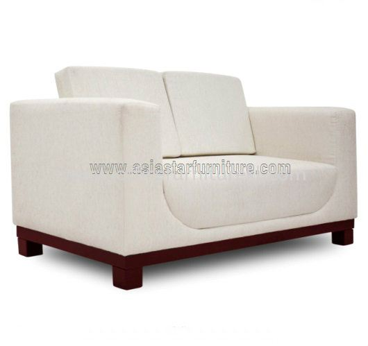 ALEXIS TWO SEATER SOFA C/W EPOXY BROWN METAL BASE