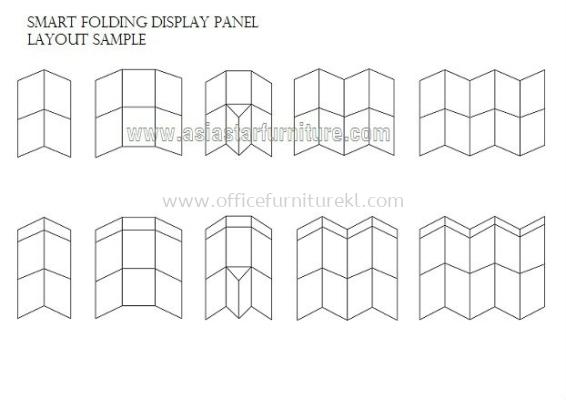 smart folding display panel Layout Sample