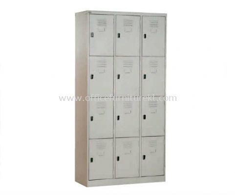 12 COMPARTMENT STEEL LOCKER