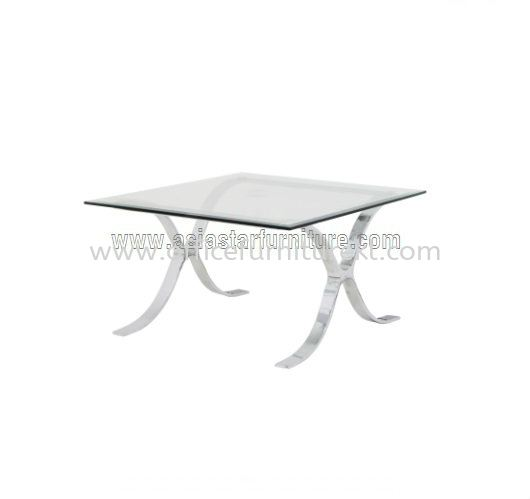 BARCELONA SQUARE COFFEE TABLE C/W TEMPERED GLASS TABLE TOP ACL 9977-6T