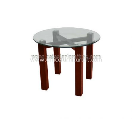 ROUND COFFEE TABLE C/W TEMPERED GLASS TABLE TOP ACL 7711-7T