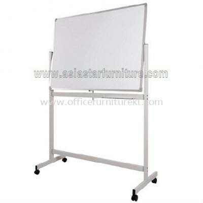 double sided white board with mobile stand