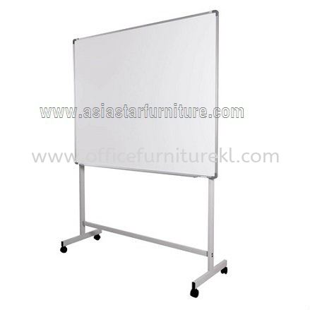 single sided white board with mobile stand