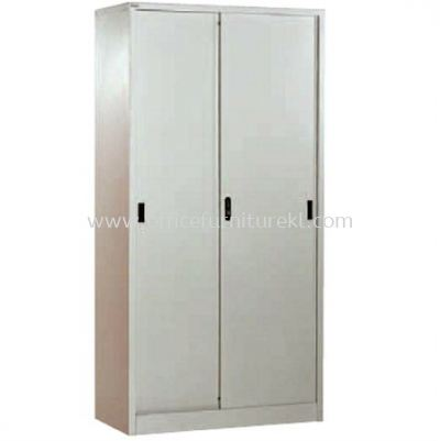 FULL HIGH CUPBOARD WITH STEEL SLIDING DOOR