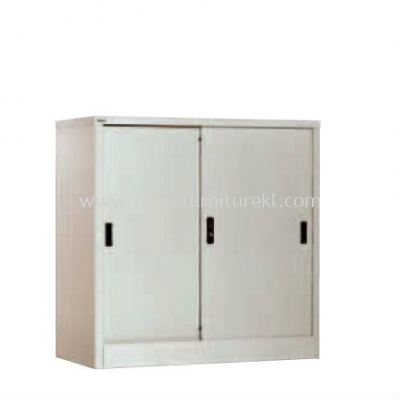 HALF HIGH CUPBOARD WITH STEEL SLIDING DOOR