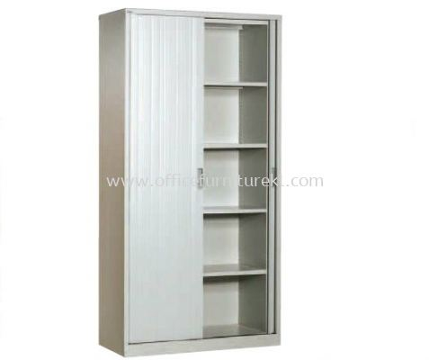 FULL HIGH ROLLER SHUTTER CUPBOARD WITH 4 ADJUSTABLE SHELF