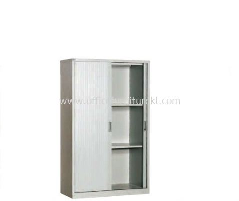 MEDIUM HIGH ROLLER SHUTTER CUPBOARD WITH 2 ADJUSTABLE SHELF