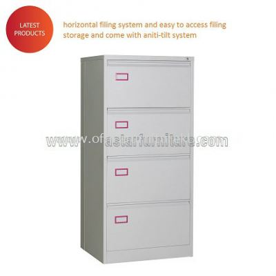Anti Tilt 4 DRAWER LATERAL CABINET