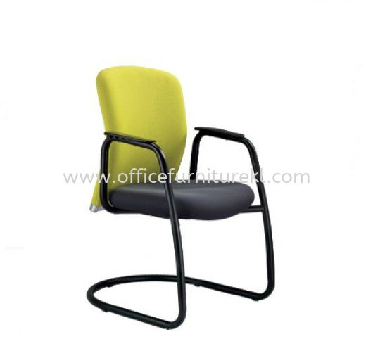 BRYON EXECUTIVE VISITOR FABRIC CHAIR C/W EPOXY BLACK CANTILEVER BASE BY-4F