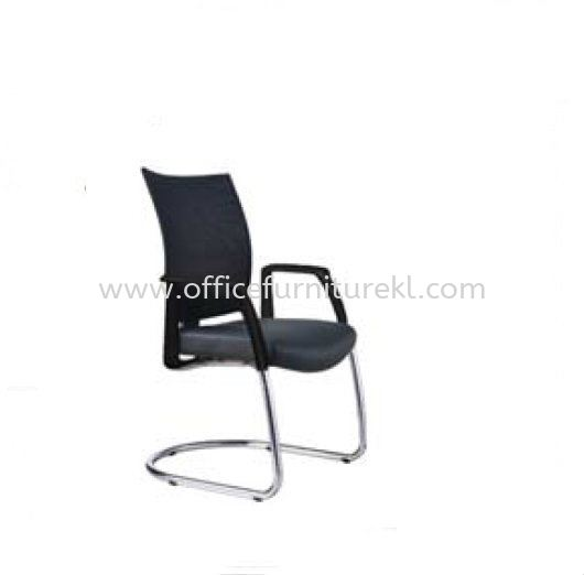 INCLUDE EXECUTIVE VISITOR LEATHER CHAIR WITH CHROME CANTILEVER BASE ID 393L