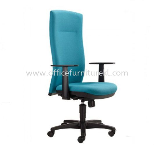 KARISMA EXECUTIVE HIGH BACK FABRIC CHAIR WITH POLYPROPYLENE BASE KM1