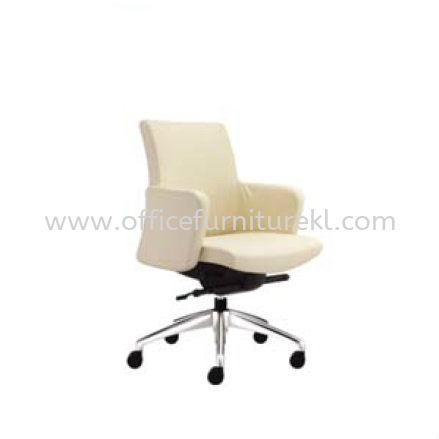 MORRIS EXECUTIVE LOW BACK LEATHER CHAIR WITH ALUMINIUM DIE-CAST BASE MR 512L
