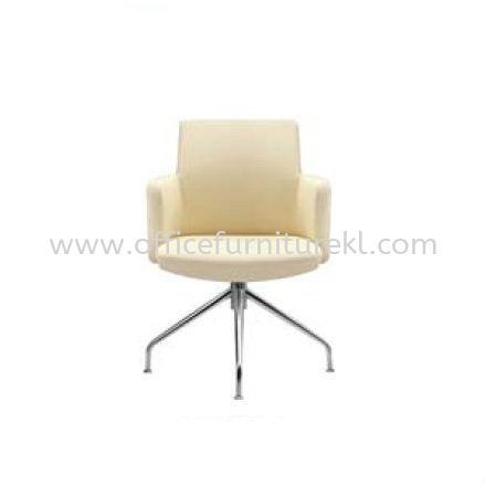 MORRIS EXECUTIVE LOW BACK LEATHER CHAIR C/W ALUMINIUM BASE MR515L