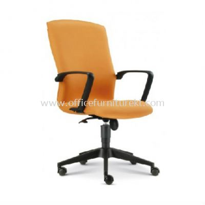 FIGHTER STANDARD MEDIUM BACK FABRIC CHAIR WITH POLYPROPYLENE BASE