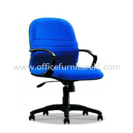 HYDE STANDARD LOW BACK FABRIC CHAIR WITH POLYPROPYLENE BASE HS3