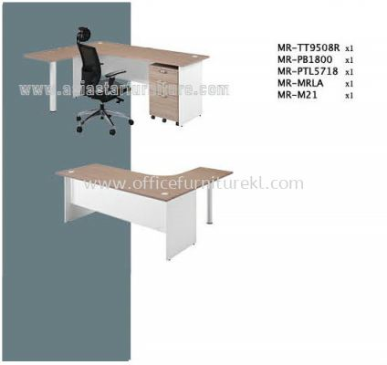 MR L-Shape Table Set F