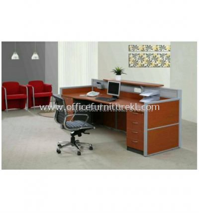 superior reception table with 2 fixed pedestal