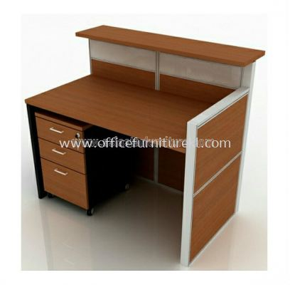 reception table with mobile pedestal