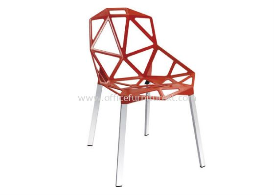 AS HH 362 ALUMINIUM CHAIR WITH CHROME LEG