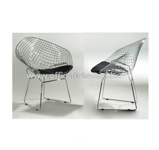 AS HH-483 CHROME FRAME WITH BLACK PU CUSHION