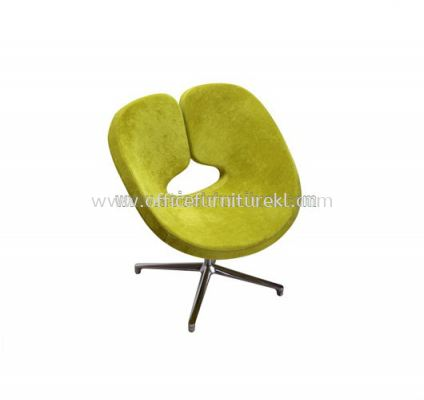AS G128 FABRIC CHAIR WITH ALUMINIUM BASE
