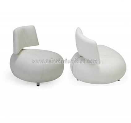 AS 0107 PU OR LEATHER CHAIR WITH STAINLESS STEEL LEG