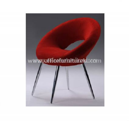 AS G110 MICROFIBRE CHAIR WITH CHROME LEG