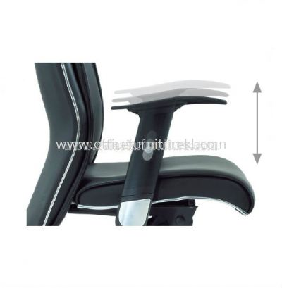 MIGHT SPECIFICATION - THE HEIGHT OF THE ARMREST WITH PP ARM PAD IS ADJUSTABLE IN 5 INTERVALS