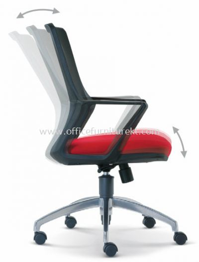 REAL SPECIFICATION - EXTRA MOTION OF THE BACKREST DURING RECLINE AUTOMATICALLY ADJUSTS TO ENSURE CORRECT POSTION