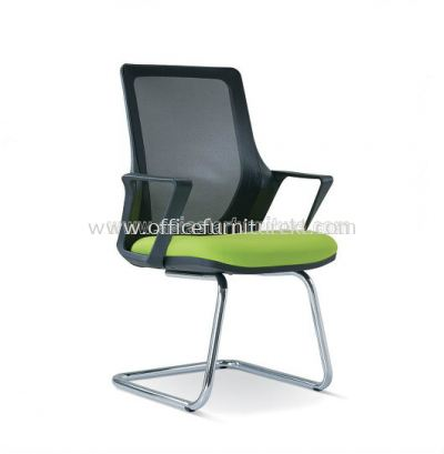 REAL MESH VISITOR CHAIR WITH CHROME BASE ASE2695