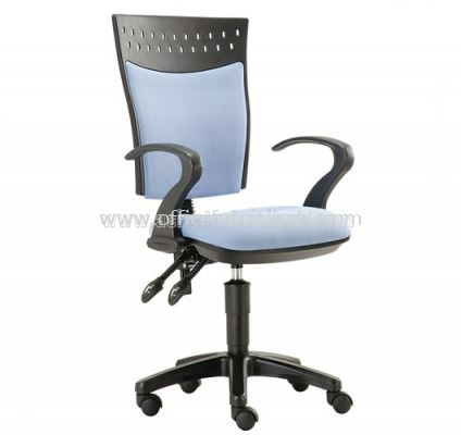 SOLAR SECRETARIAL HIGH BACK CHAIR WITH BACK REST ADJUSTABLE ASE923