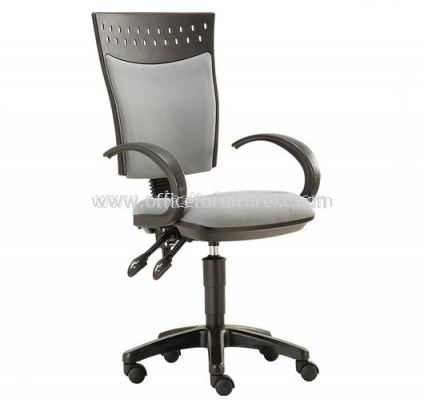 SOLAR SECRETARIAL HIGH BACK CHAIR WITH BACK REST ADJUSTABLE ASE922