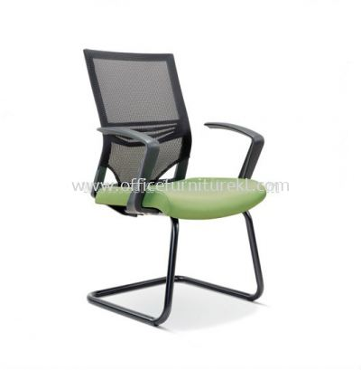 RELEASE VISITOR CHAIR WITH FASHIONABLE STYLISH PP ARMREST AND EPOXY BLACK BASE ASE-2617