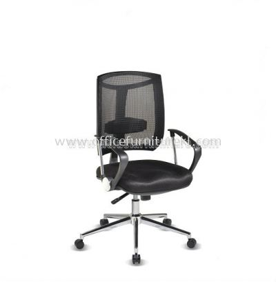 JENKAL LOW BACK MESH CHAIR WITH CHROME BASE & BACK SUPPORT-AJK-C2