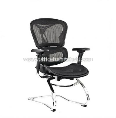 ARVIKA VISITOR FULLY MESH CHAIR WITH CHROME BASE & ADJUSTABLE HANDLE ARK-3