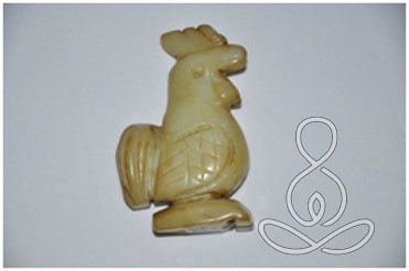 Jade Rooster 3'' Chicken Old Chinese Carving Stone