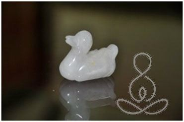 Quartz Duck 1.5'' Snow White Crystal Bird Statue