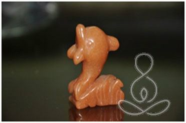 Aventurine Dolphine 2'' Red Orange Crystal Figure