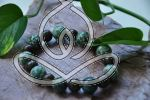 In the Woods Bracelet Green Forest Jasper Stretch Bracelets Crystals and Gemstones