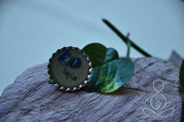 Lapis Pie Magnet Blue Crystal Healing Stone