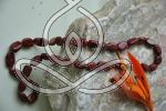 Jasper Necklace 17'' Red Oval Root Chakra Stone Necklaces Crystal and Gemstones Store