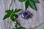 Amethyst Pendant 1.8'' Purple Crystal Sterling Silver Pendants Crystals and Gemstones