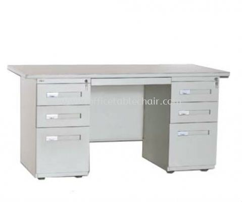 MODERN DOUBLE PEDESTAL DESK