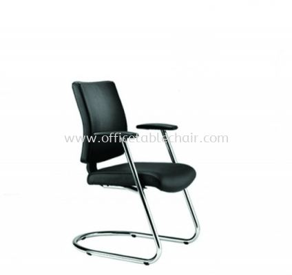 BRABUSS EXECUTIVE VISITOR LEATHER CHAIR C/W CHROME CANTILEVER BASE BR-4L