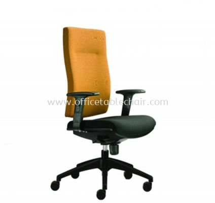 BRABUSS EXECUTIVE MEDIUM BACK CHAIR C/W ROCKET NYLON BASE BR-2F