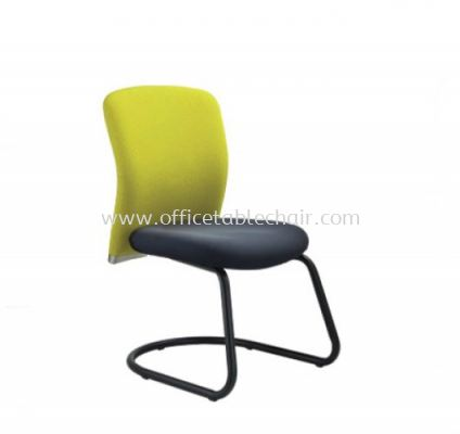 BRYON EXECUTIVE VISITOR CHAIR W/O ARMREST WITH EPOXY BLACK CANTILEVER BASE BY-5F